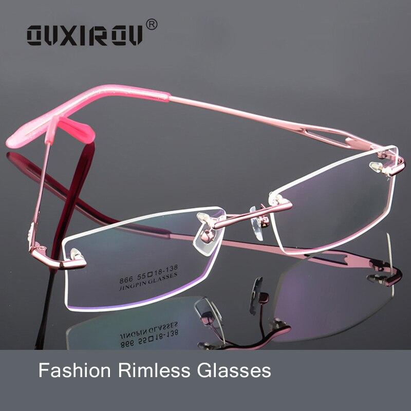 Memória de titânio sem aro óculos mulher homem leve flexível óculos ópticos quadro óculos de grau s132
