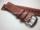 Handmade Vintage Red Leather Watchband +Tool for Diesel Fossil Timex Armani CK DW Watch Band Men Women Wrist Strap