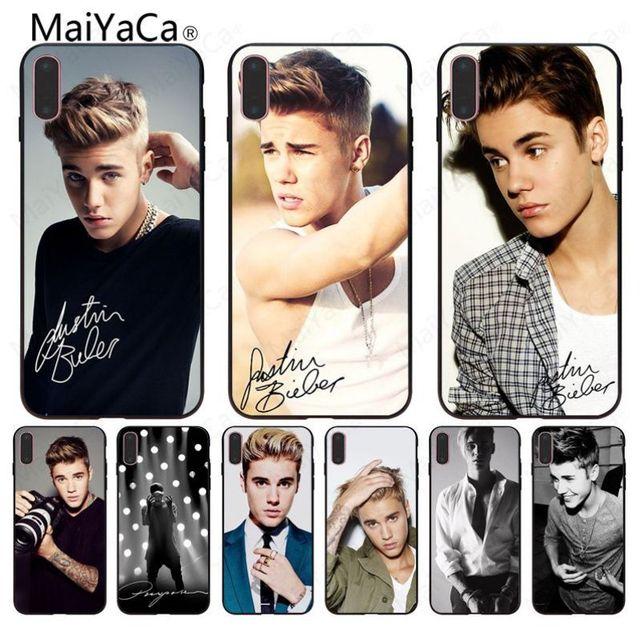 MaiYaCa Justin Bieber Wallpaper Black TPU Soft Rubber Phone Case For Iphone 8 8plus 7 7plus