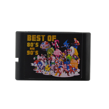 Newest Games cartridge for sega for MD video game machine with 196 in 1 Games cartridge for MD 16bit console