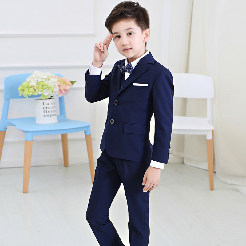 2016 Boys Suits For Weddings Kids Prom Suits Wedding Clothes for Boys Children Clothing Sets  Boy Classic Costume Boys Dresses 2016 new arrival fashion baby boys kids blazers boy suit for weddings prom formal wine red white dress wedding boy suits