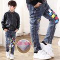 2016 new winter plus thick velvet jeans boy pants children Korean baby boy pants fashion jeans high-quality