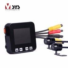 """SYS 2.0 """"сенсорный ключ Спорт Видеорегистраторы для мотоциклов Камера Регистраторы с двойной отдельный Водонепроницаемый объектив HD 720 P GPS трекер для авто велосипед"""