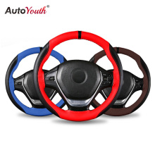 AUTOYOUTH Microfiber Leather Steering Wheel Cover Automotive Interior