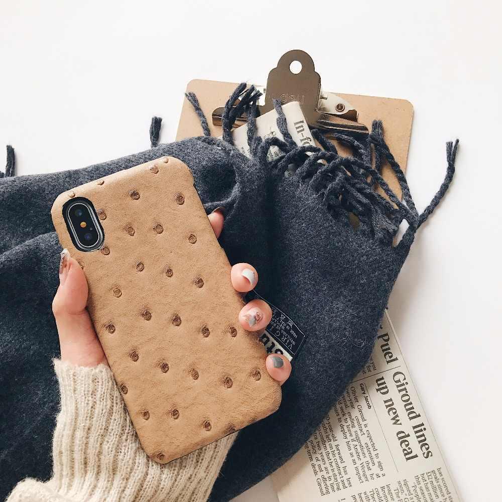 LUDI gorąca skóry strusia skóra telefon etui dla iphone'a x/XS/8/7/7 Plus/8 Plus/MAX/XR bardzo ciężko Hipster etui z pu dla iphone 6/6 Plus/6 s Plus