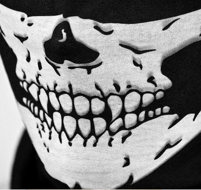 Bicycle Ski Motor Bandana Motorcycle Face Mask Skull For Motorcycle Riding Scarf Women Men Scarves Scary Windproof Face Shield 2