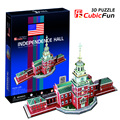 Candice guo CubicFun Children favourite toy gift 3D puzzle paper model building model Jigsaw C120h independent Independence hall