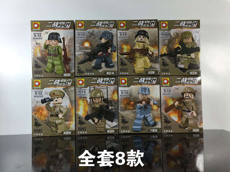 SWAT World War II Assault Military Action Figures With Weapons Bricks Building Blocks Toys For Children Compatible With Lego enlighten 1712 city swat series military fighter policeman figures building blocks bricks compatible with lepin kids toys