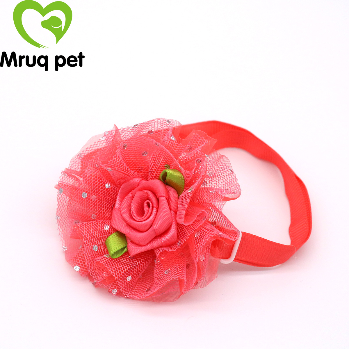 New 60pcs Pet Puppy Dog Cat Bow Ties Adjustable Bright Color Flower Dog Bowties Dog Accessories Pet Supplies