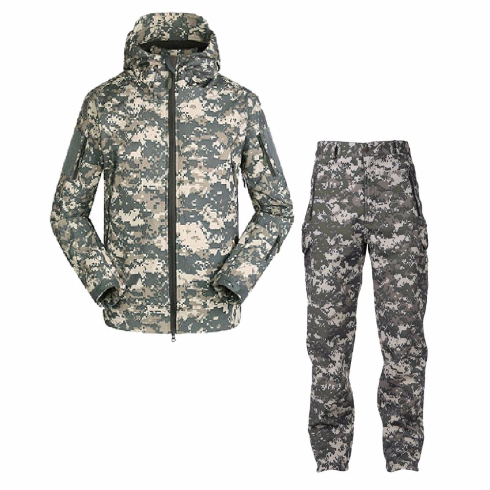 Outdoor gore-tex waterproof jacket for men TAD V 5.0 softshell hunting clothes outfit hiking jacket thermal sport suit plus size