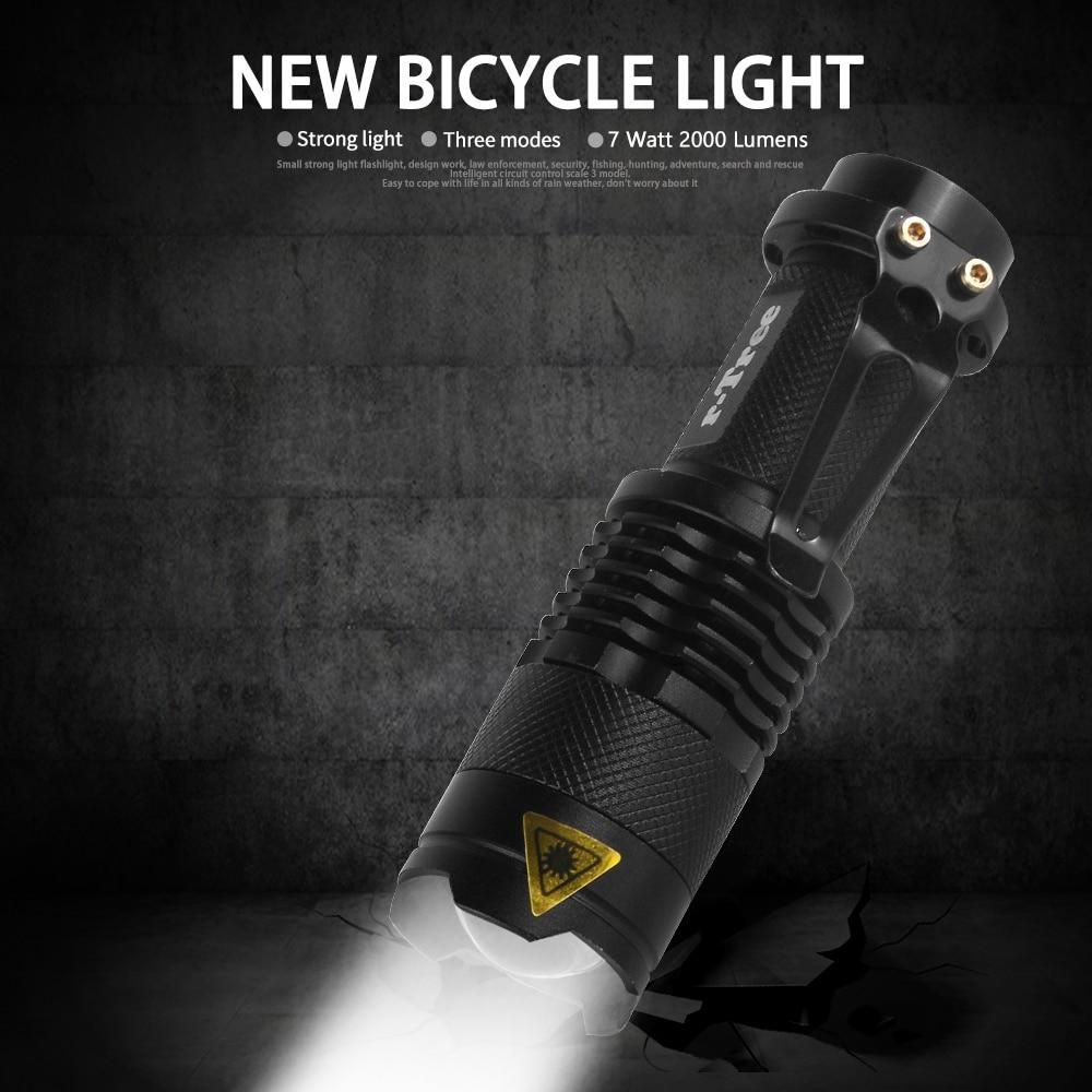 Bicycle Light 7 Watt 2000 Lumens 3 Mode Bike Q5 LED cycling Front Light Bike lights Lamp Torch Waterproof ZOOM flashlight BL0502 1