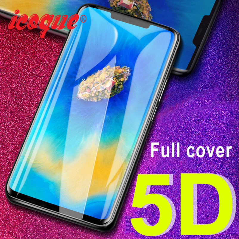 5D Protective Glass For Huawei Honor 8X 8C Play View 20 10 P20 Pro P30 Lite Screen Protector For Huawei Nova 3 3i Tempered Glass
