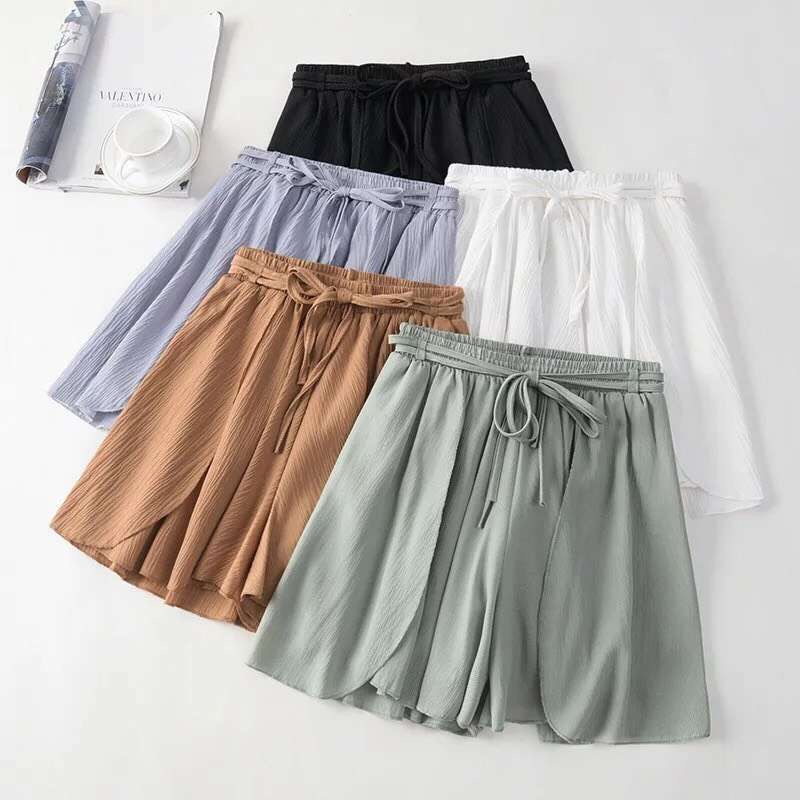 2019 High Waist Ladies Casual Beach Chiffon Loose Casual   Shorts   Summer Women Skirt   Short   Booty