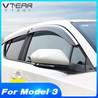 Vtear For Toyota CHR C HR 2019 2018 2017 Accessories Window Door Visor Windows side Sun Rain Protection Shield Exterior Parts