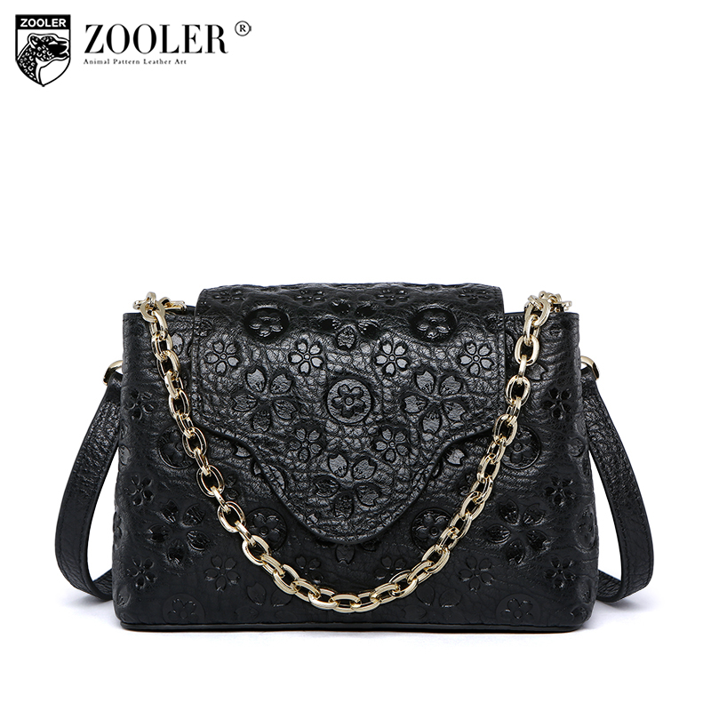 ZOOLER hollow out stylish shoulder bag genuine leather bag women bags designer luxury chain bags bolsa feminina#b183 hollow out small leather tote bag 2017 luxury women shoulder crossbody bags fashion women bag brand handbag bolsa feminina beige