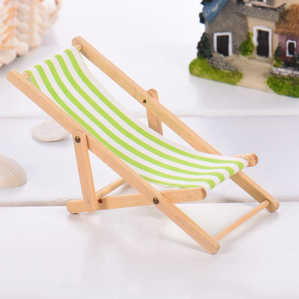 LeadingStar Simulate Recliner Beach Sunbathing Chair Kids Dollhouse Miniature Toy Gift Decoration zk30