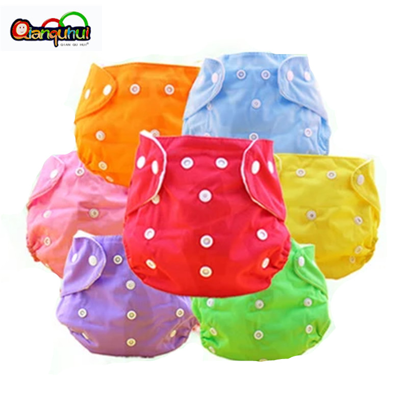 Многоразовые детские подгузники 5 шт./лот, тканевые подгузники для новорожденных, моющиеся регулируемые подгузники свободного размера, зим...