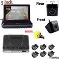 Neue 5 zoll Klapp Digitalen Display Parktronics Auto Parkplatz Sensoren 6 Summer Alarm Vorne Rückansicht Auto Rückfahr Kamera Anzeige