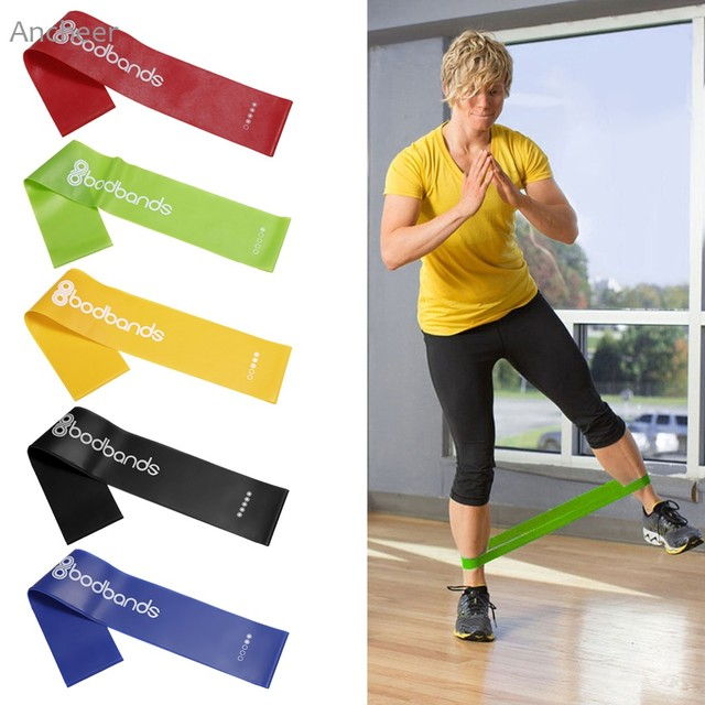 ANCHEER Новый 5 Шт./компл. фитнес спорт Мужская Главная Тренажерный Зал Фитнес-Премиум Сопротивление Латекс Упражнение Loop Yoga фитнес 2017 Горячий