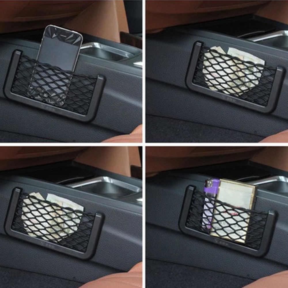 Универсальная автомобильная сторона сиденья задняя сетка для хранения сумка, держатель для телефона карманный органайзер для укладки Tidying
