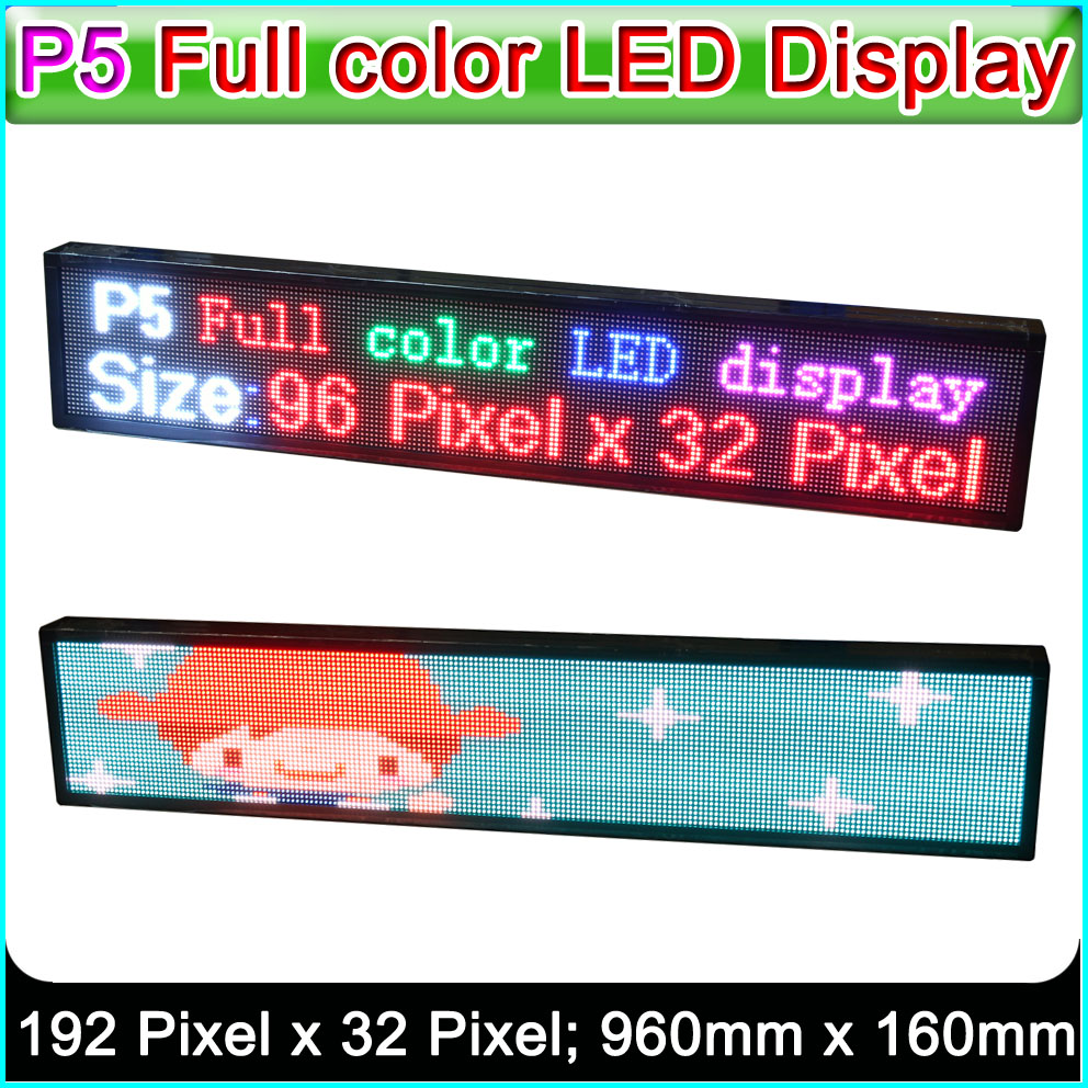 SMD P5 RGB LED Display Panel, Indoor Full Color LED Advertising Signs ,W40