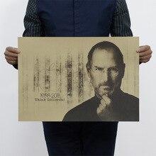 Steve Jobs винтажный крафт-бумажный плакат для дома, школы, офиса, художественные журналы, кафе, бара, украшение, ретро плакаты и принты