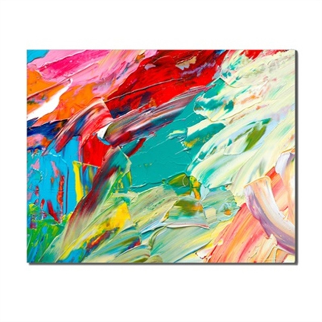 Fashion Poster Abstract Colorful Block Creative Background Canvas Oil Painting For Kids Room Unique Gift On Wall Decor No Frame