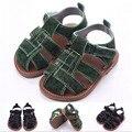 Verão Sapatos de bebê fundo duro meninos calçados primeiro Walkers calçado ao ar livre crianças dos miúdos Sapatos berço de verão Bebe Sapatos 3 tamanho