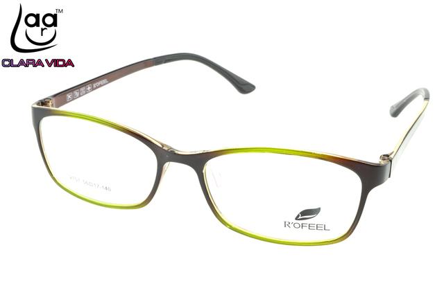Verde esmeralda Designer Retro Óculos TR90 Ultra leve Quadro Custom Made Prescrição Óptica Óculos de Miopia Photochromic-1 To-6