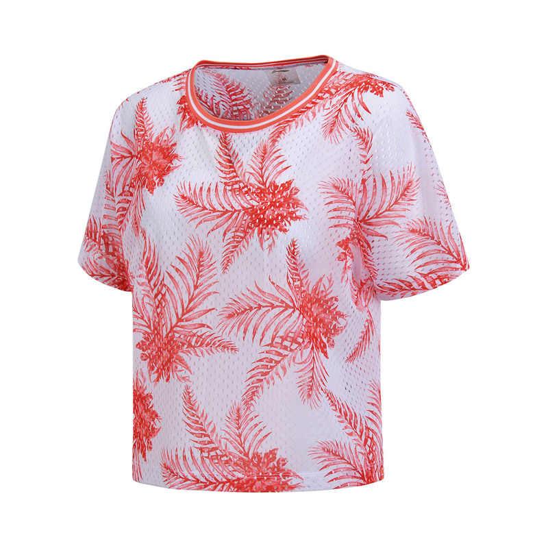 (Break Code) li-Ning Vrouwen Outdoor T-shirt Losse Oversize Polyester Voering Li Ning Ademend Sport Tee Top AHSN142 WTS1408