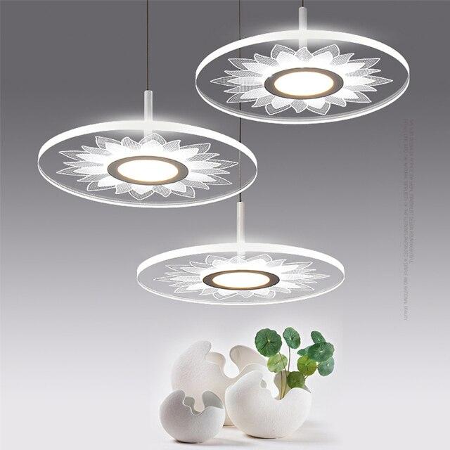 nordic moderne kurze led pendelleuchten lampe leuchten mit acryl schatten fr hauptbeleuchtung kche esszimmer schlafzimmer - Esszimmer Lampen Led