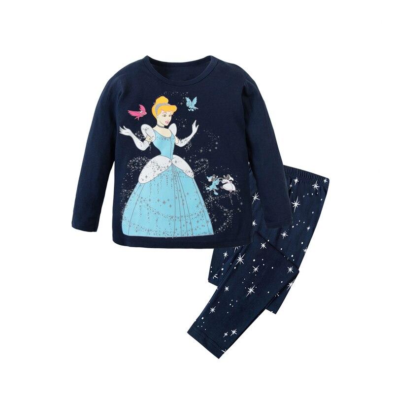 2 T-8 T Mädchen Prinzessin Pyjamas Kinder Nachtwäsche Kinder Kleidung Baby Nachtwäsche 100% Baumwolle Homewear Jungen Autos Pyjamas StäRkung Von Sehnen Und Knochen