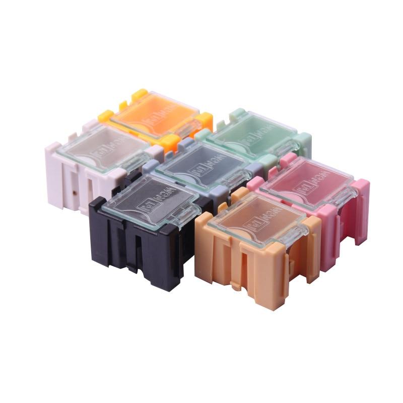 Modestil Glyduino Mini Abnehmbare Montiert Toolbox Kunststoff Smd Smt Transparente Bauteil Aufbewahrungsbox Mit 7 Farben QualitäT Und QuantitäT Gesichert Elektronische Zubehör & Supplies Elektronische Bauelemente Und Systeme