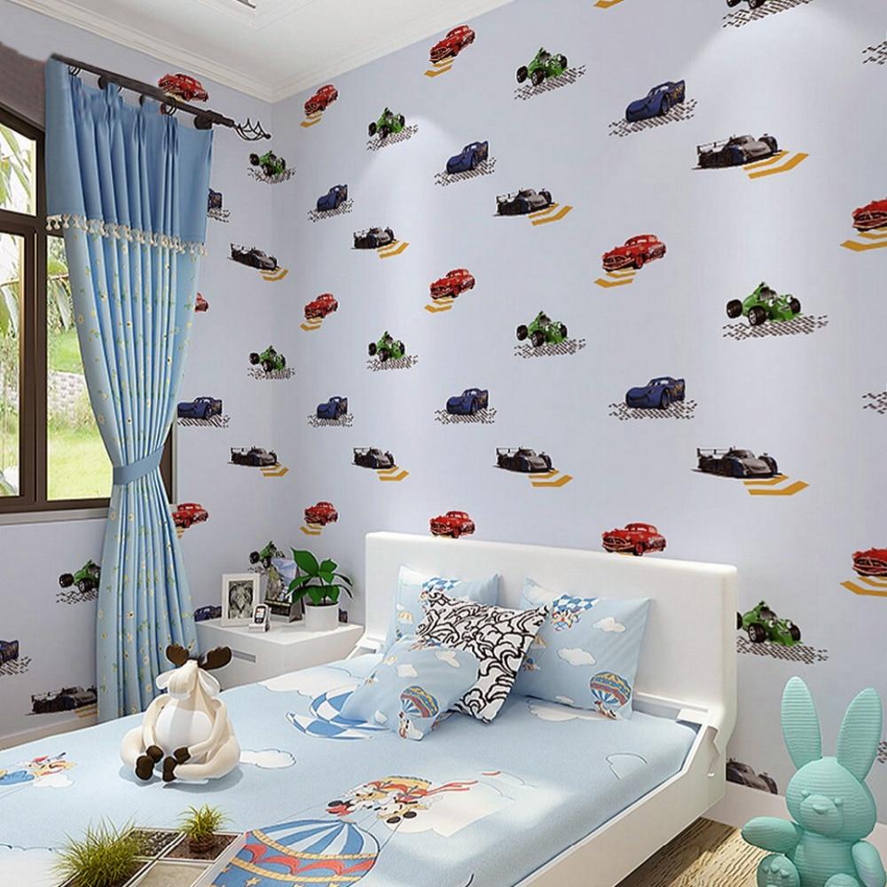 childrens room non woven wallpaper for walls 3d cartoon car boy bedroom home wall decor wallpapers kids room wallpaper printed