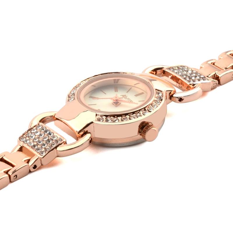 Abrray Ladies շքեղ rhinestones վարդագույն ոսկե - Կանացի ժամացույցներ - Լուսանկար 3
