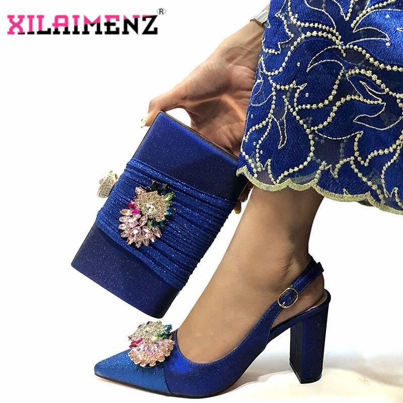 Image 4 - Mulher de alta Qualidade Sapatos De Cristal De Luxo E Bolsa de  Conjunto Para O Partido Nigeriano Sapatos Combinando Saco De sapatos de  Salto Alto Sapatos de Casamento E saco ConjuntoSapatos femininos   -