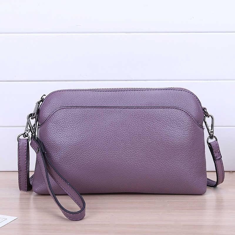 HMILY женская сумка-мессенджер из натуральной кожи, женская сумка на плечо из натуральной коровьей кожи, женская сумка на запястье, универсальная женская сумка через плечо