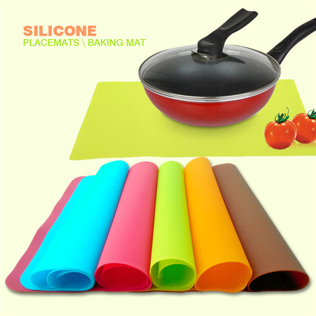 2 Pieces High Quality 40x30cm Silicone Mats Baking Liner Best Silicone Oven Mat Heat Insulation Pad Bakeware Table Mat