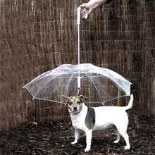 Useful Transparent PE Pet Umbrella Small Dog Umbrella Rain Gear with Dog Leads Keeps Pet Dry Comfortable in Rain Snowing(China)
