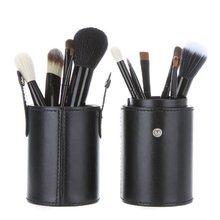 UESH 12pcs Wooden Handle Makeup Brush Set Cosmetic Brush Kit  (Black)