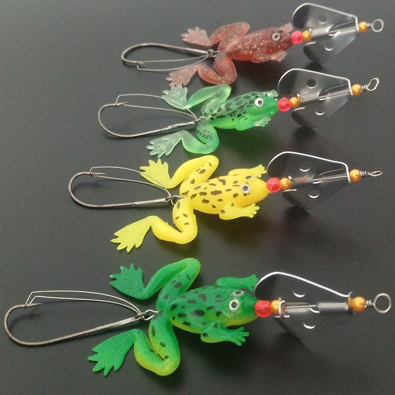 Frog lure fishing lure snake head silicone lure soft bait for Snake fishing lure