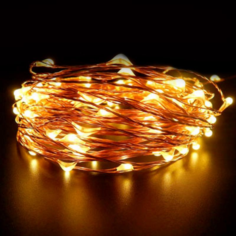 1.5m LED Solar Lamps Copper Wire Fairy String Patio Lights Waterproof  Garden Christmas Wedding Party Decoration Outdoor