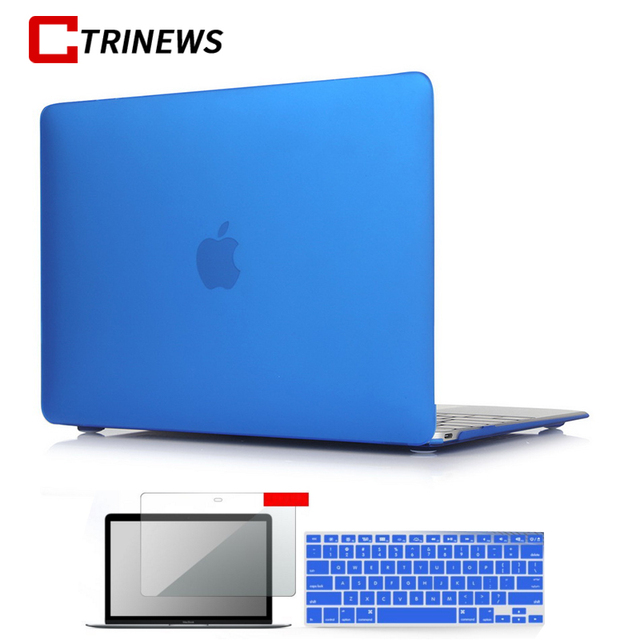 Matte Laptop Case For Macbook Pro Retina 13 12 15 Air 11 New Pro 13 15 Touch bar Sleeve Cover For Macbook Air 13 Case Capa