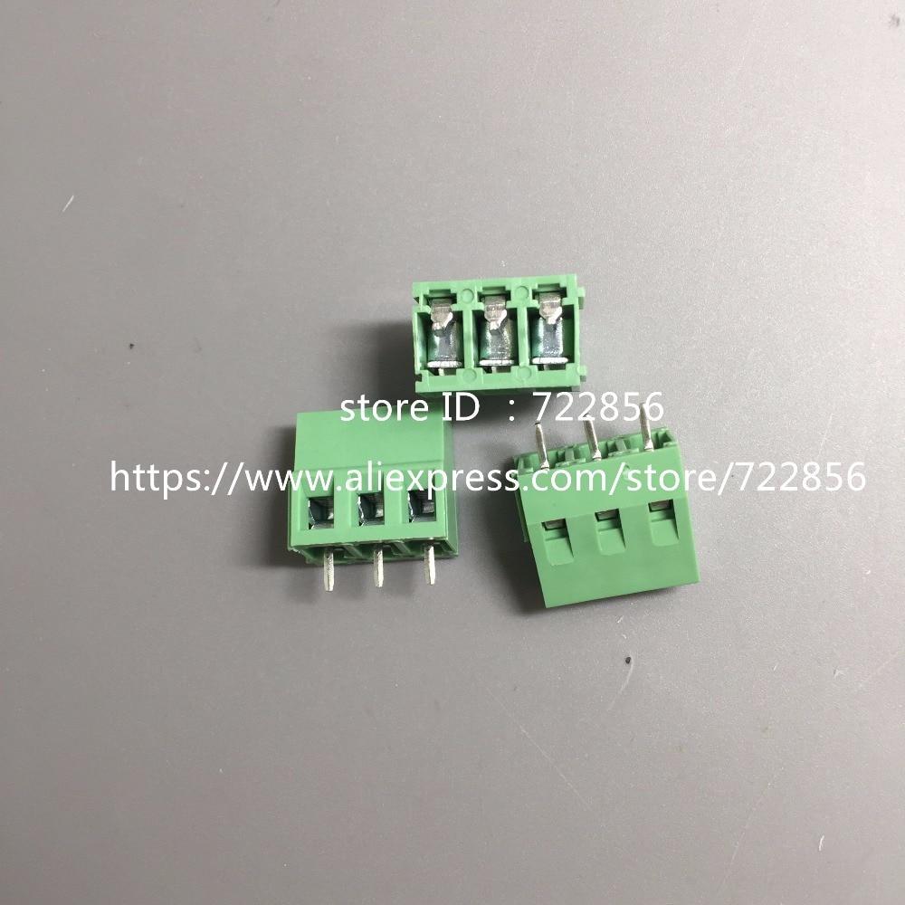 20pcs/lot  PCB Screw Terminal Block Connector KF128-3P pitch:5.0MM/0.2inch Green 5mm KF128 3Pins 20 pcs 126 3p 3pin 5mm pitch screw terminal block 300v 10a