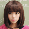 Fashion Short Wig Women Cute Straight Bob Cosplay Wig Heat Resistant Full Hair  Short Wig #L04738