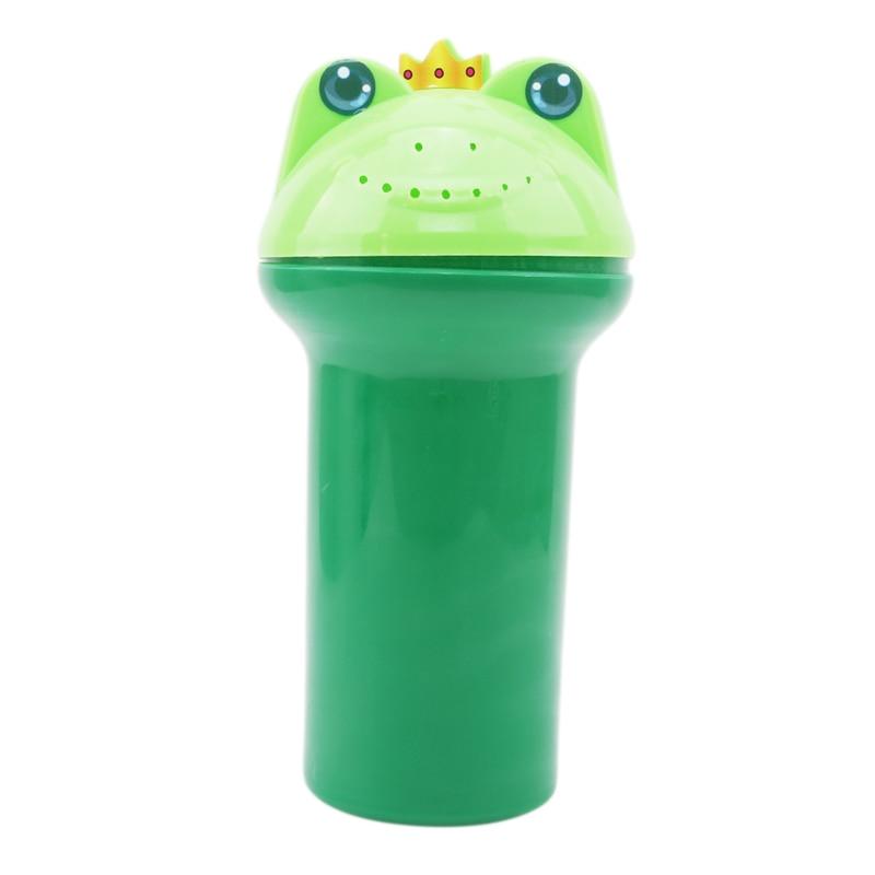 Милая мультяшная детская водная ложка для душа, для купания, для мытье чашек, мытье чашек - Цвет: green