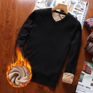 Image 4 - Varsanol איש סוודר כותנה ארוך שרוול סוודרים סרוגים גברים V צוואר סוודר חולצות סריגים פסים Slim Fit סוודרים חמים חדש
