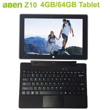 Bben 4GB 64GB tablet pcs windows10 OS 2GB 32GB 10 1Inch Intel Z8350 2 in 1