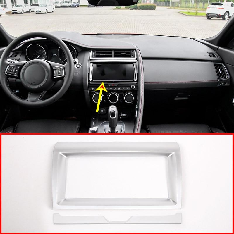 2019 Jaguar E Pace: Matt ABS Car Interior Navigation Frame Trim For Jaguar E