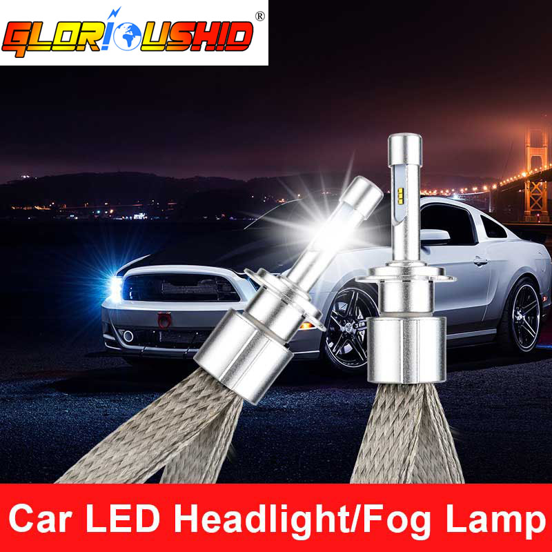 2 adet H7 LED Araba Farlar ampul 90 W 10000lm Oto Ön lamba Otomobil - Araba Farları - Fotoğraf 1